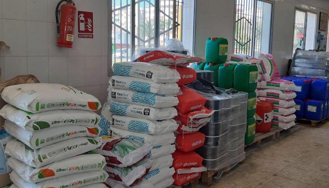 Imagen de uno de los almacenes de Agrotrapiche en Morche.